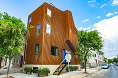 Shimmery steel home in Kensington lists for $585K - Curbed Phillyclockmenumore-arrow : That rusted look is here to stay