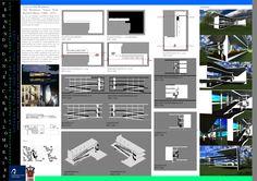 Escalera y rampa... Casa Old Westbury, Richard Meier (1969-1971). Carrillo Morales Fernando Daniel
