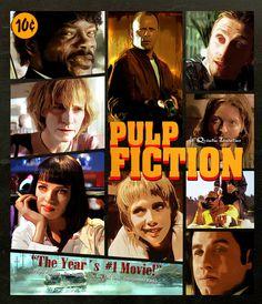 Pulp Fiction - truely wonderful artwork for an alternative movie poster #GangsterMovie #GangsterFlick