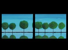 Reflections of Spring by Bryan Dubreuiel  Two Canvases by bryandub, $224.00 Beautiful Paintings, Canvases, Abstract Expressionism, Reflection, Original Paintings, This Or That Questions, Landscape, The Originals, Spring