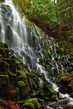 Ramona Falls near Mt. Hood by Gary Randall, via Flickr
