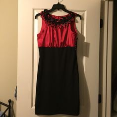 Red and black party dress Size 4 NWT Tiana B Dresses
