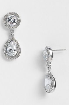 shopstyle.com: Nadri Crystal & Cubic Zirconia Drop Earrings (Nordstrom Exclusive)