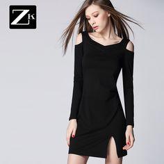 ZK pilot magazin nou primăvară rochie 2015 de femei a fost rochie subțire tricot maneci raglan rochie neagră