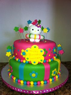 Hello Kitty Pool Party cake