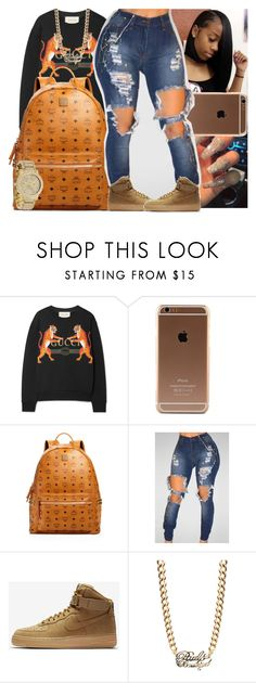 """Untitled #1663"" by msixo ❤ liked on Polyvore featuring Gucci, MCM, NIKE, Paul's Boutique and Michael Kors"