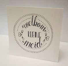 Handletteren geboorte kaartje meisje Hand Lettering Fonts, Brush Lettering, Cute Cards, Diy Cards, Handlettering For Beginners, Zentangle, Diy Postcard, Doodle Quotes, Make Your Own Card