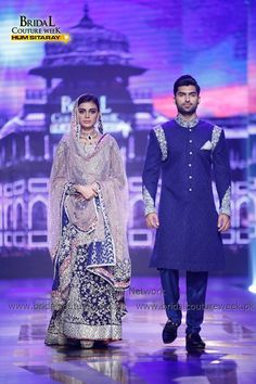 The whole Zainab Chottani Daastaan BCW Gold Runway 2016 collection contains beautiful dreamy colors like shades of blue, white, and silver