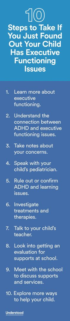 10 Steps to Take if you Find Out Your Child Has Executive Functioning Issues