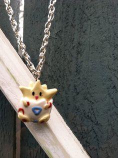 Pokemon Necklace Togepi Polymer Clay Charm by PokemonCharms, $15.00