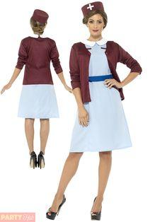 89db36a6d82 Classic Nurse Uniform Dress | Details about Ladies Vintage Nurse Costume  Adults Uniform Fancy Dress .