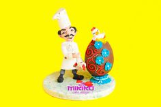 Pastry chef - Happy Easter  made in fondant