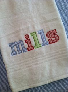BoysPersonalized Applique Name Bath/Beach by dotsndimplesboutique, $25.00