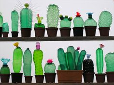 """authentic-boredom: """"Veronika Richterová creates new life from repurposed plastic PET bottles. For the last decade the artist has used various methods of cutting, heating, and assemblage to build..."""