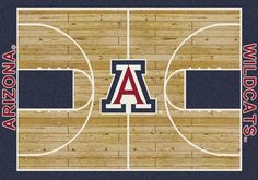 Arizona Rug University Basketball Court