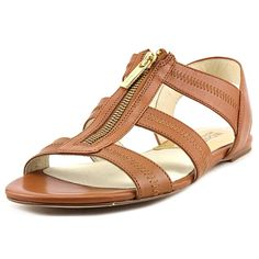 Michael Kors Women's Berkley Flat Leather Sandals *** Trust me, this is great! Click the image. - Lace up sandals Leather Sandals Flat, Lace Up Sandals, Slingback Sandal, Womens Flats, Footwear, Pairs, Michael Kors, Stylish, Lady