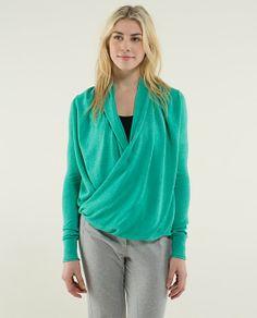 Lululemon Iconic Sweater Wrap $128.00 USD  colour: heathered bali breeze Size 2 Winter 2013