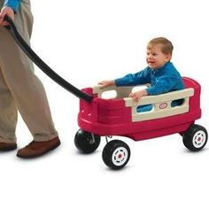 Little Tikes Junior Explorer Wagon by Little Tikes. $79.97. From the Manufacturer                Roomy wagon has two extra high sides that are removable for easy loading and unloading. Extra-long handle is comfortable to pull and folds flast for easy transport or storage.                                    Product Description                A brand new spin on the traditional red wagon! The Junior Explorer Wagon is just a bit smaller than our traditional wagons. Easy to pull ...