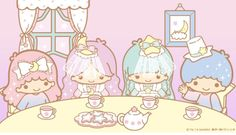 tinkevidia: Sanrio: Little Twin Stars:) Baby Friends, Cute Friends, Little Twin Stars, Little Star, Badtz Maru, Keroppi, Hello Kitty, Star Banner, Unicorn Princess