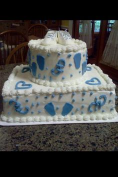 Baby shower cake made by my mom, Sarah Walls!