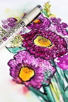 ** Alisa Burke Blog - gorgeous watercolor and ink with tutorials and inspiration photos.