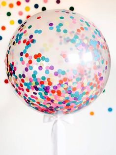 confetti balloons.