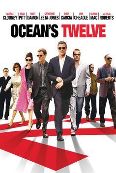 Ocean's Twelve Movie Poster - George Clooney, Brad Pitt, Matt Damon  #OceansTwelve, #MoviePoster, #ActionAdventure, #StevenSoderbergh, #BradPitt, #GeorgeClooney, #MattDamon