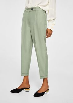 Modal trousers - Women | MANGO USA