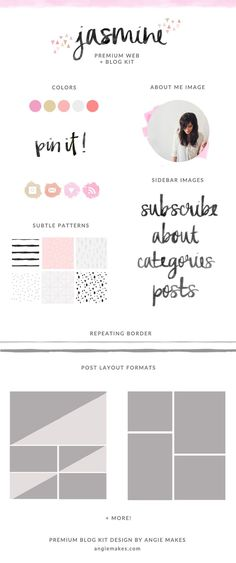 Premade Blog Graphics Kit. Perfect to spruce up your blog design in no time. | http://angiemakes.com