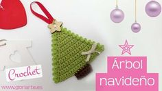 Árbol navideño de ganchillo para colgar. Christmas crochet tree to hang.