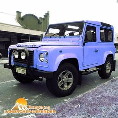 Land Rover Defender 90 Td5 Sw Se County in BABY BLUE EYES. LOL