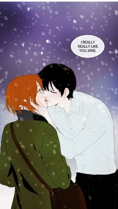 """A creation of alchemy learning to love a human. """"Winter Woods"""" by Cosmos and Van Ji on Webtoons.com"""