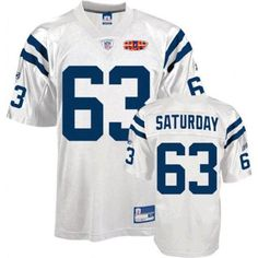 3d69f2d3d Colts  63 Jeff Saturday White With Super Bowl Patch Stitched NFL Jersey  Jeff Saturday