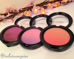 MAC Vintage Grape, Azalea Blossom and Ripe Peach Blush Ombre
