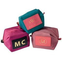 Monogrammed Pouch | This pouch is the ideal size (3.5 inches tall) for stowing in a purse. | SouthernLiving.com