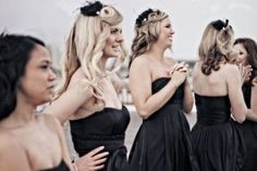 From head to toe, your friends will stand beside you beautifully with a sprinkle of charm in their hair. #wedding #bridalparty #headpiece