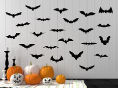 Halloween Decal Halloween Halloween Wall Decal Bat Decal Bat Wall Decal Bats Halloween Bat Halloween Party Bat Flock Home Decor Halloween Wall Decor, Spooky Decor, Cheap Halloween, Diy Halloween Decorations, Couple Halloween Costumes, Halloween Crafts, Wall Decorations, Halloween Disfraces, Party Ideas