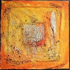 Farbenergiebild Joy / Quadrat Goldgelb #farbfeldmalerei #rothko #expressionismus #expressionism #abstrakt #abstract #art #kunst #modern #leinwand #canvas #painting #artwork #painting #gemälde #fineart