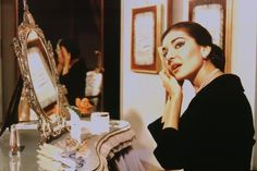 Beautiful Opera singer, Maria Callas.