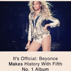 It's Official Beyoncé Makes History With Fifth No 1 Album