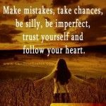 Make Mistakes Take Chances Be Silly