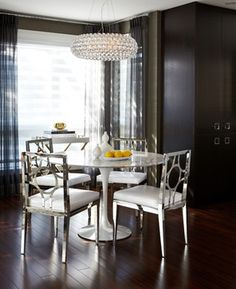 Love the Saarinen table, but those chairs...