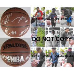 2015-2016 Oklahoma City Thunder, OKC, Team, Signed, Autographed, NBA Basketball, a Coa with the Proof Photos of the OKC Players Signing Will Be Included