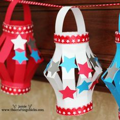 4th of July Paper Lanterns...fun craft for the girls when they're a little older