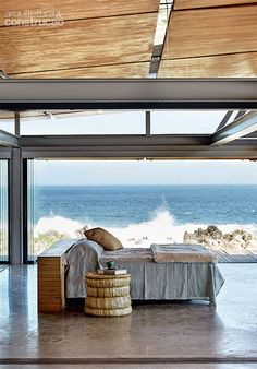 Rock Star - This extraordinary beach house is set on its own peninsula in Rooi Els, a small coastal village, looking out across the Atlantic Ocean in False Bay - Western Cape, South Africa - Architect George Elphick - More info: http://www.realestatemagazine.co.za/blog/2015/02/03/rock-star-beach-house/ Photographs: Warren Heath / http://www.bureaux.co.za/-/features/features/coastal/rock-star