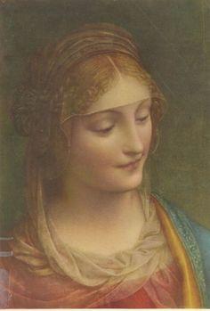 Our Lady by Bernardino Luini Renaissance Paintings, Renaissance Art, Religious Icons, Religious Art, Classic Paintings, Beautiful Paintings, Images Of Mary, Religious Paintings, Catholic Art