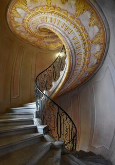 Staircase Railings, Staircase Design, Stairways, Spiral Staircases, Golden Snake, Golden Fish, Amazing Architecture, Architecture Details, Interior Architecture