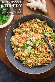 Ramen Noodle Recipes, Wok Recipes, Ramen Noodles, Asian Recipes, Oriental Recipes, Stir Fry Recipes, Ethnic Recipes, Homemade Ramen, Homemade Fries