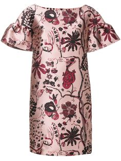 Alberta Ferretti floral embroidered dress