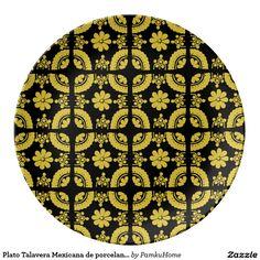 Plato Talavera Mexicana de porcelana noche Plato De Cerámica